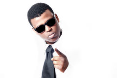 Attractive young black man with shades on Stock Image
