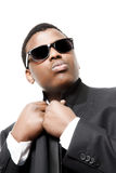 Attractive young black man with shades on Royalty Free Stock Photography