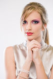 Attractive young blond. royalty free stock photos
