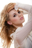 Attractive young blond caucasian woman Royalty Free Stock Image