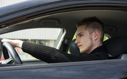 Portrait Handsome Guy Driving His Car Stock Photos 107 Images