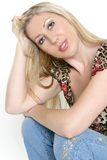 Attractive young blond woman Stock Photos