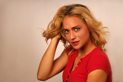 Attractive young blond woman Stock Images