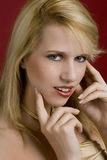 Attractive young blond woman Stock Image