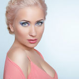 Attractive young blond woman portrait. Stock Image