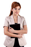 Attractive young blonde businesswoman Royalty Free Stock Photos