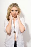 Attractive young blonde lady Royalty Free Stock Image