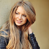 Attractive young blonde woman - closeup Royalty Free Stock Photography