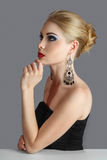 Blonde woman looking away Royalty Free Stock Image