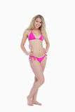 Attractive young blonde woman wearing a swimsuit Stock Image