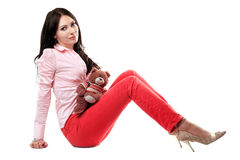 Attractive young brunette Stock Photos