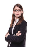 Attractive young brunette businesswoman Royalty Free Stock Image