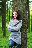 Attractive young brunette female Royalty Free Stock Photos
