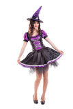 Attractive young brunette woman dressed as a fairy Stock Images