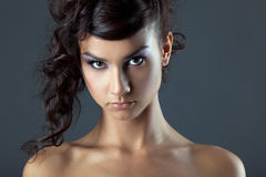 Attractive young brunette woman portrait Stock Photo