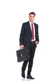 Attractive young business man walking Stock Photography