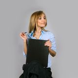 Attractive young business woman Royalty Free Stock Image