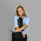 Attractive young business woman Royalty Free Stock Photos
