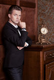 Attractive young businessman in a suit Royalty Free Stock Photo