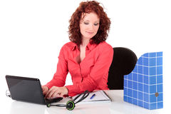 Attractive young businesswoman Stock Images