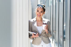 Attractive young businesswoman Stock Photography