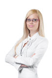 Attractive young businesswoman cv portrait Royalty Free Stock Photo