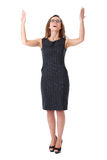 Attractive young businesswoman in dress Royalty Free Stock Photos