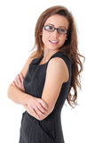 Attractive young businesswoman in elegant dress Royalty Free Stock Photography