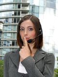 Attractive young businesswoman with headset Stock Photo