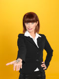 Attractive, young businesswoman holding house keys Royalty Free Stock Photography