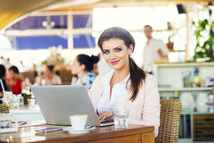 Attractive young businesswoman Stock Image