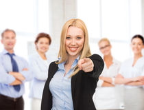 Attractive young businesswoman in office Royalty Free Stock Photo