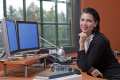 Attractive Young Businesswoman Smiling Royalty Free Stock Photo