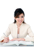 Attractive young businesswoman smiling Royalty Free Stock Photos