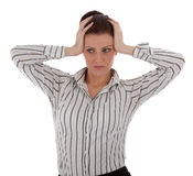 An attractive young businesswoman is stressed out Royalty Free Stock Photo