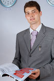 Attractive young busnessman Stock Photography
