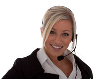 An attractive young call-center operator Royalty Free Stock Image