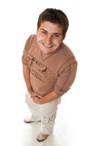 Attractive young casual guy. Playing the fool Royalty Free Stock Image