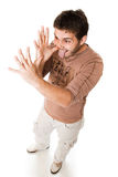 Attractive young casual guy Stock Photos
