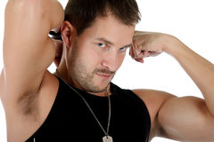 Attractive young caucasian man Stock Photography