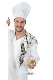 Attractive young caucasian man chef, glasses Stock Image