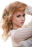 Attractive young caucasian woman Royalty Free Stock Photos