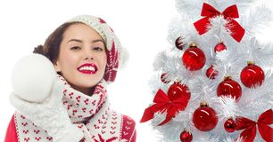 Woman winter royalty free stock image