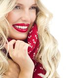 Woman winter royalty free stock photo