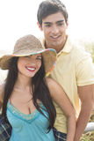 Attractive young couple. A happy young couple standing outdoors together Stock Photography
