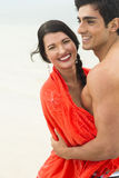 Attractive young couple. An attractive young couple, outdoors. Selective focus on the man Royalty Free Stock Photo