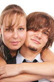 Attractive young couple close-up Royalty Free Stock Photos