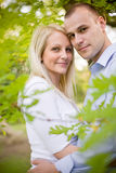 Attractive young couple cuddling. Royalty Free Stock Images