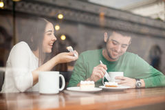 Attractive young couple on a date Stock Photo