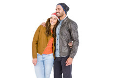 Attractive young couple embracing Royalty Free Stock Images